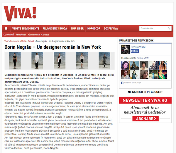 Dorin Negrau - Un designer roman la New York